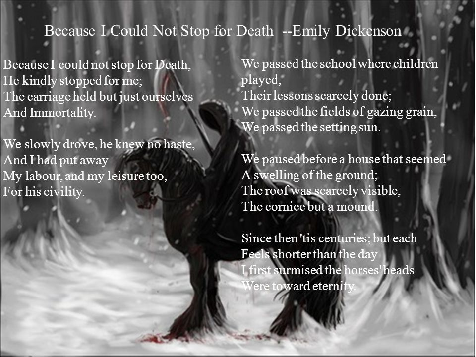 theme of death in emily dickinson Theme of grief in emily dickinson (an essay) 10 august 2014 dickinson's theme of personal grief e mily dickinson has been thought of as one of the best american poets, with tremendous.