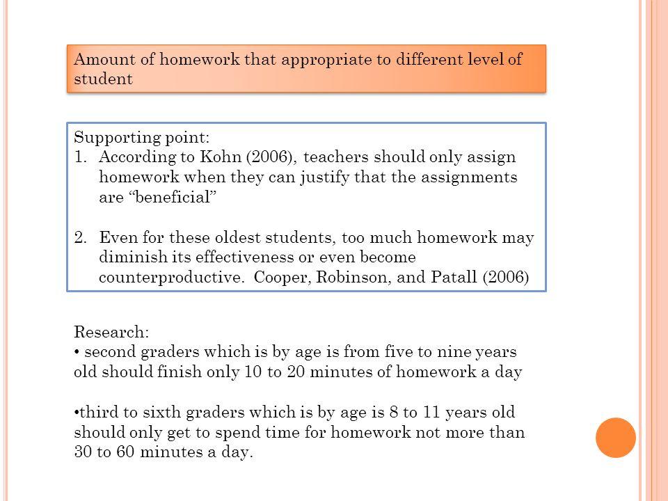 homework is not beneficial