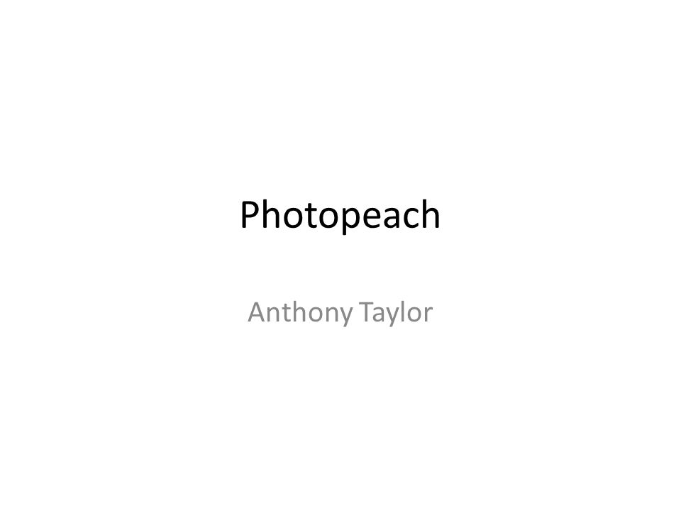 Photopeach Anthony Taylor