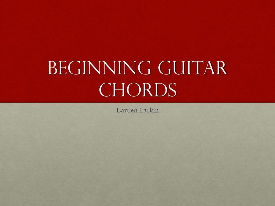 Beginning Guitar Chords Lauren Larkin Basics Fret Board With