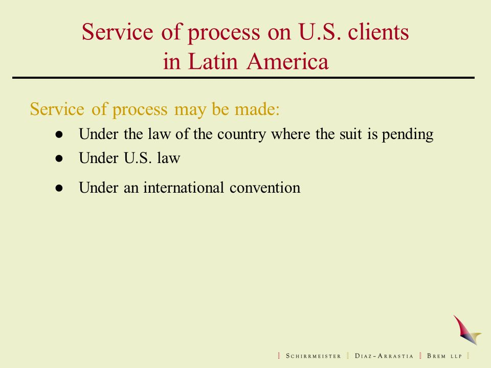 Service of process on U.S.