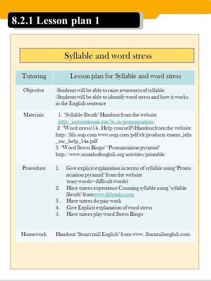 TESOL of Graduate PORTFOLIO # Oh Su Jin Teaching Pronunciation