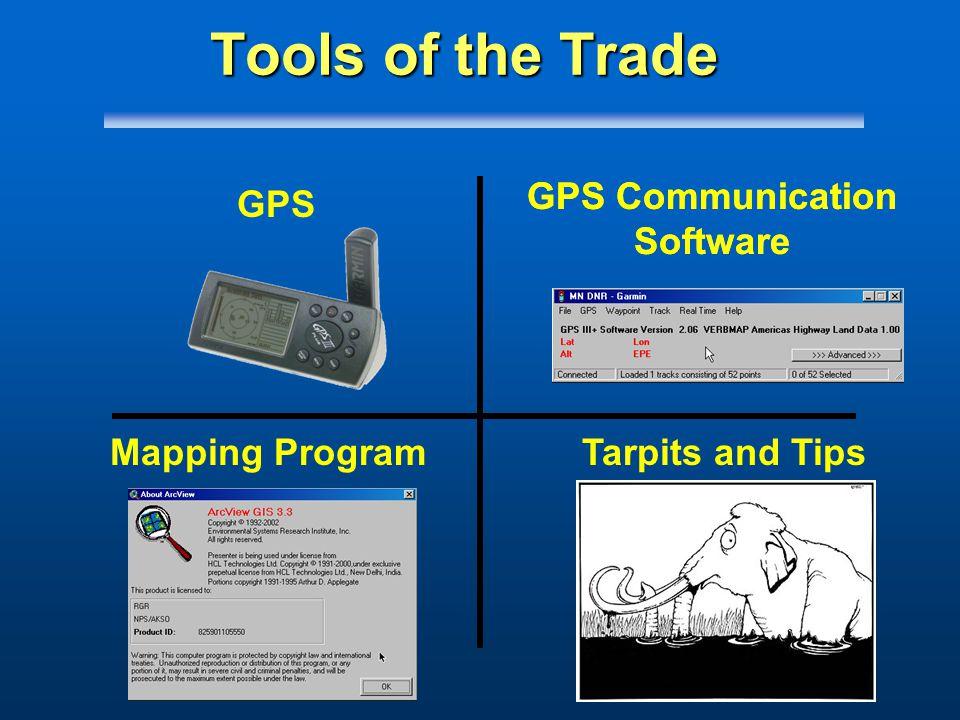 GPS Communication Software GPS Mapping ProgramTarpits and