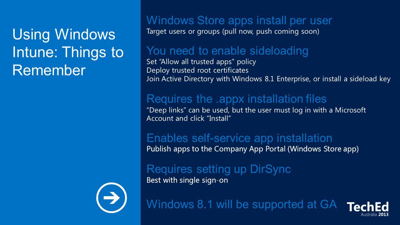 Michael Niehaus Windows Store Apps Traditional Desktop Apps