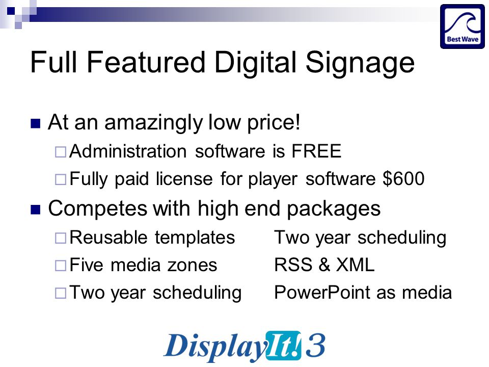 Best Wave Digital Signage Opportunities YOU CAN PROFIT FROM! - ppt