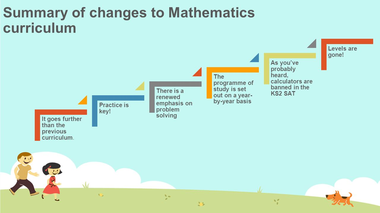 Mathematics in the new curriculum Framework for Progression in ...