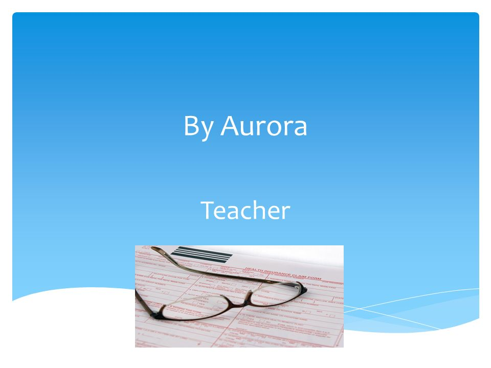 By Aurora Teacher