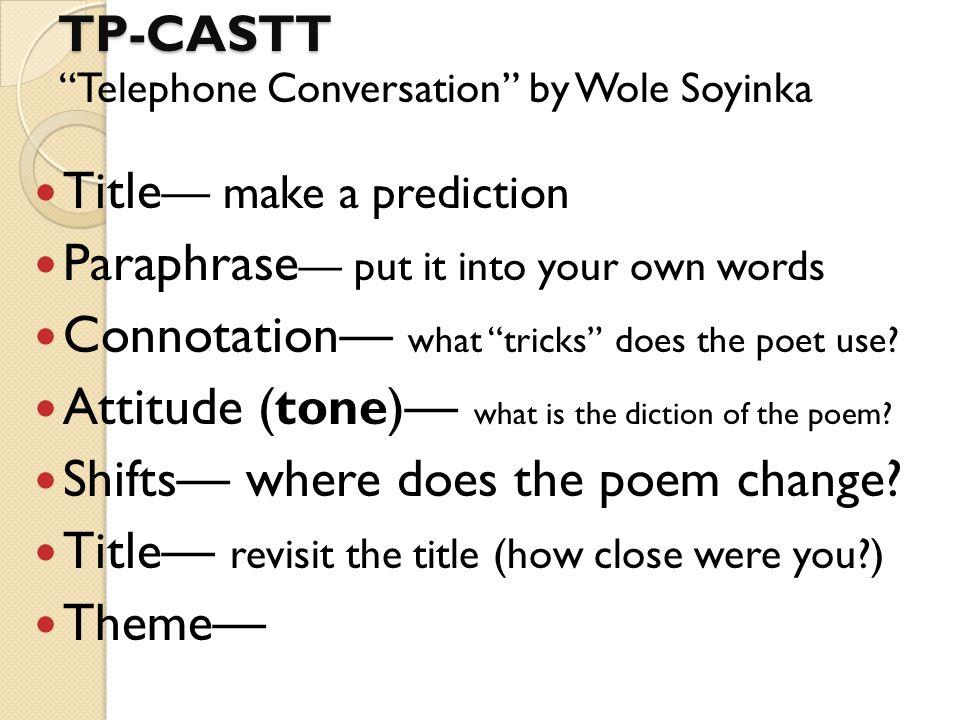 telephone conversation by wole soyinka poem