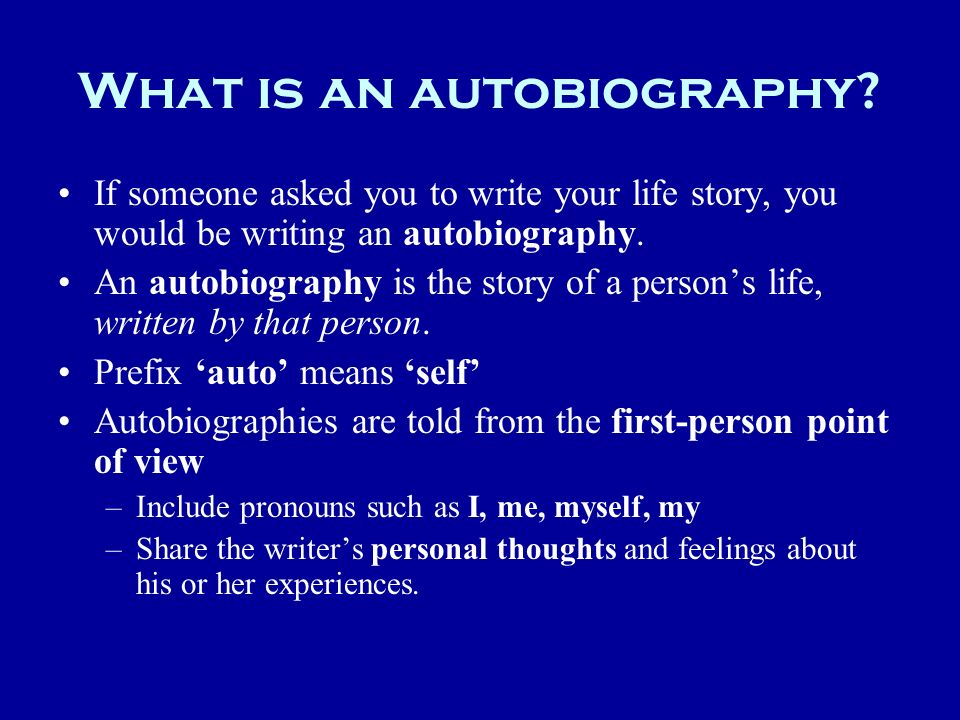 what to include in an autobiography