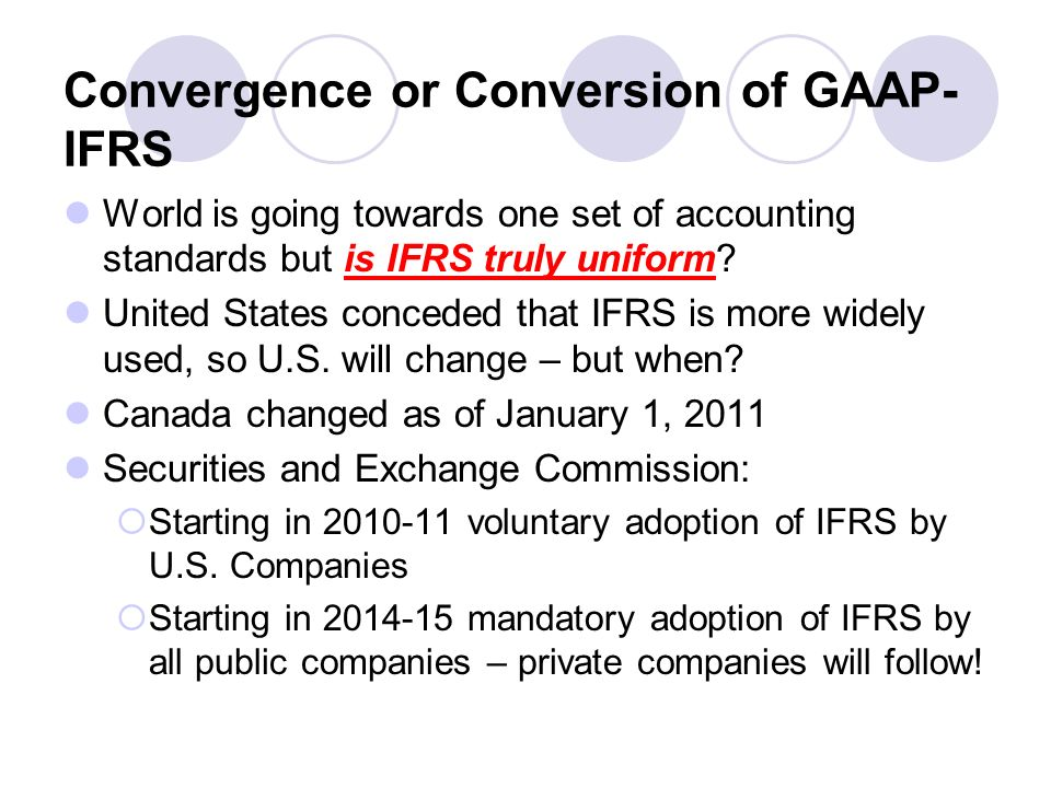 us gaap and ifrs convergence 2019