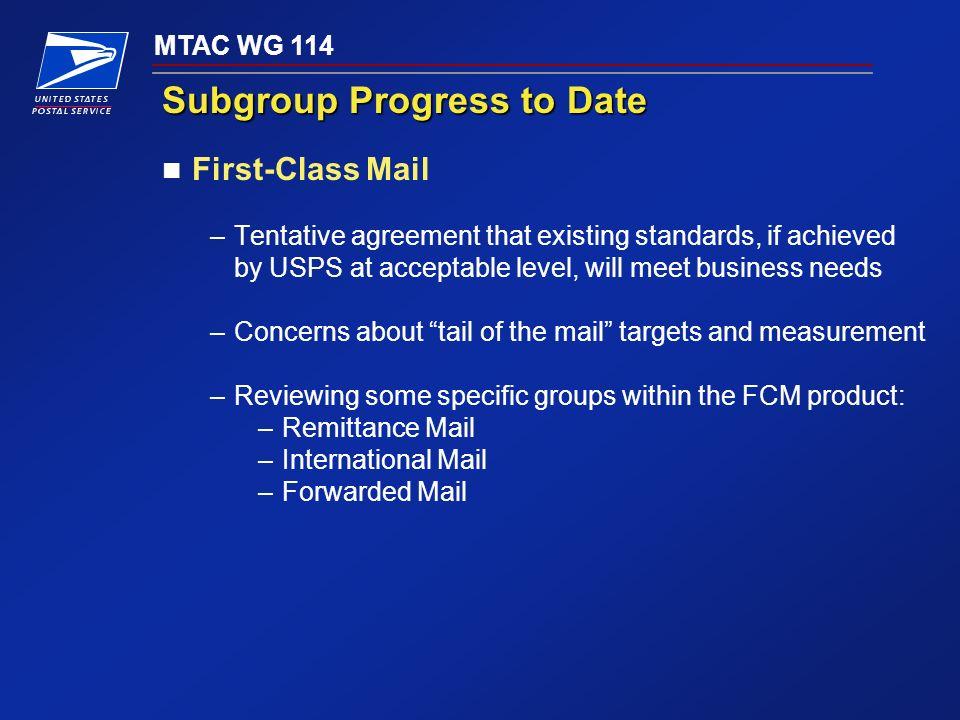 Mtac Wg 114 Mtac Workgroup 114 Establish Service Standards And
