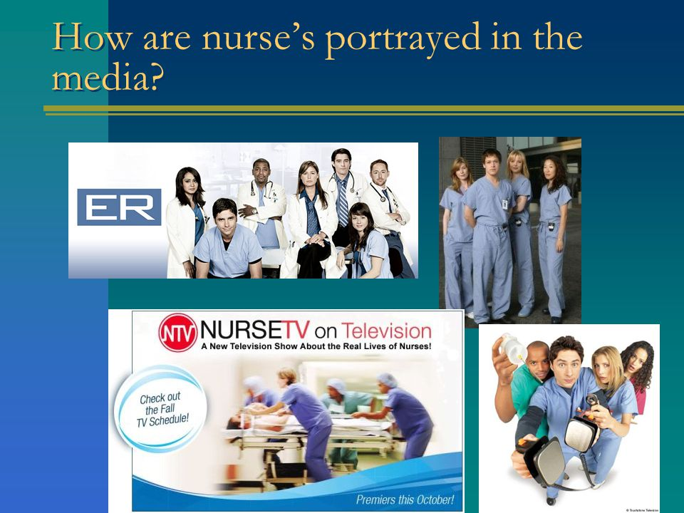 How are nurse's portrayed in the media