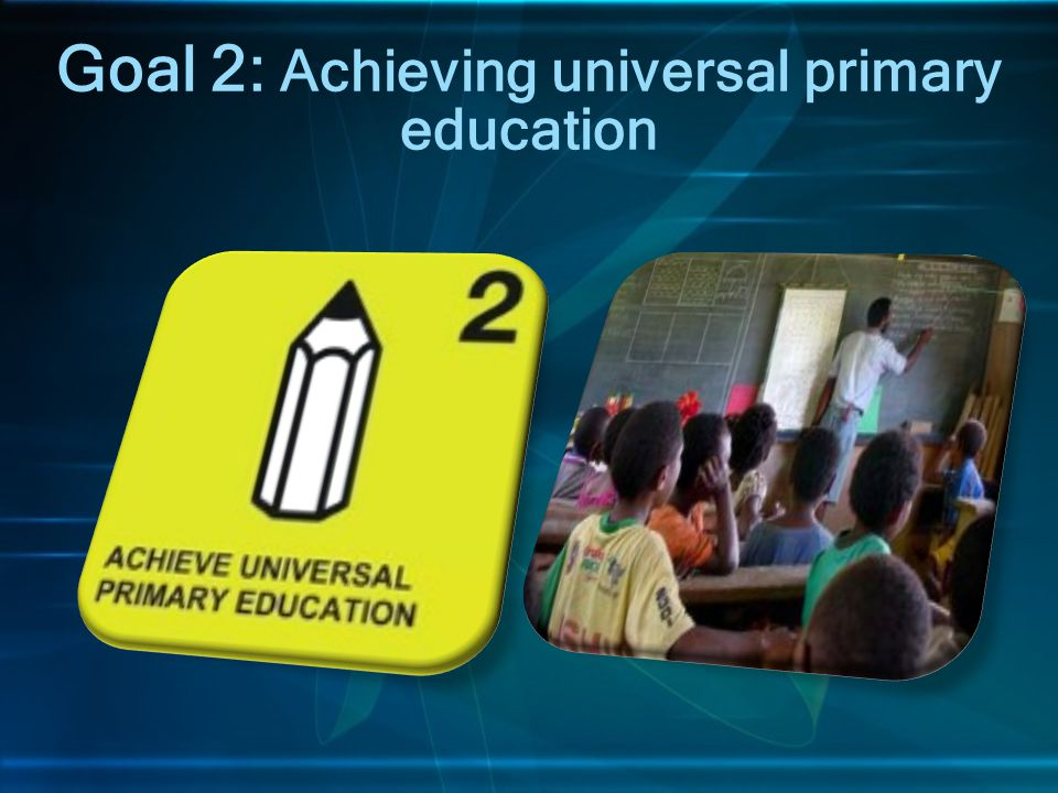Goal 2: Achieving universal primary education
