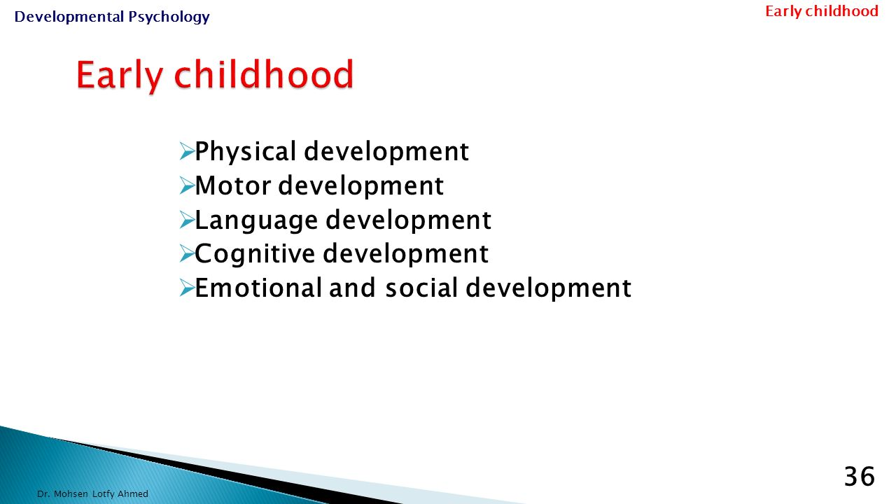 Psychology and child development in the early years