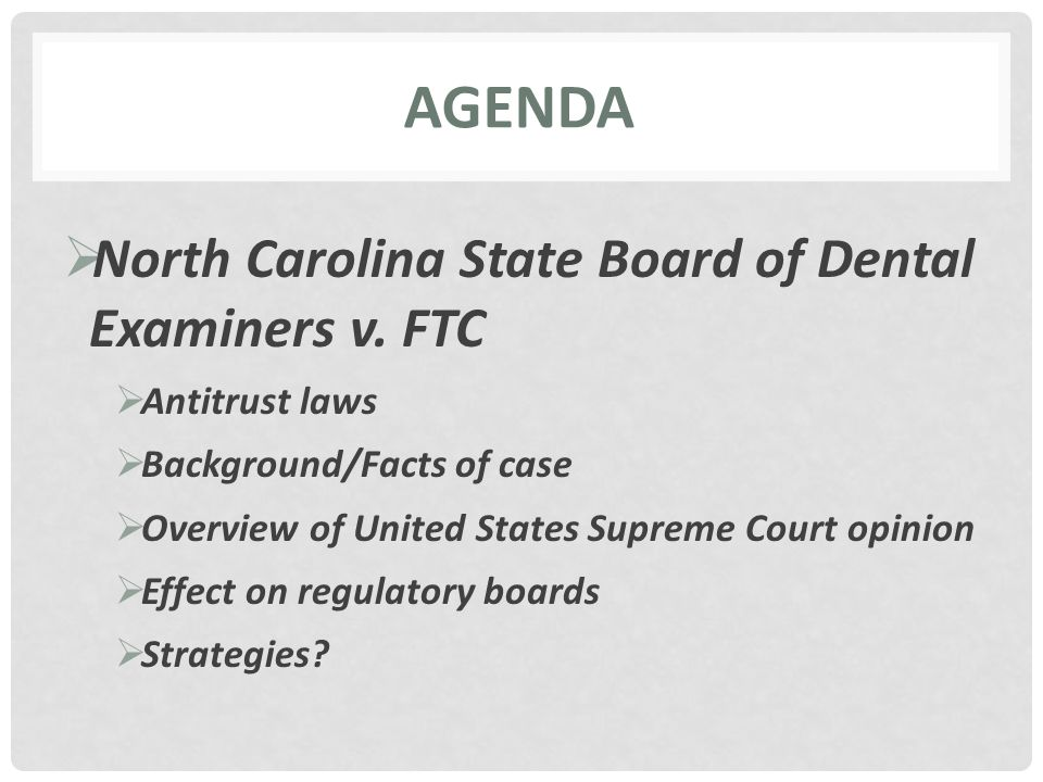 FEDERATION OF CHIROPRACTIC LICENSING BOARDS NORTH CAROLINA