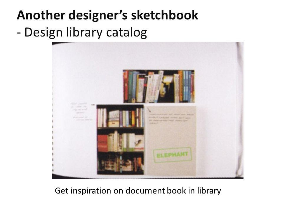 Another designer's sketchbook - Design library catalog Get inspiration on document book in library