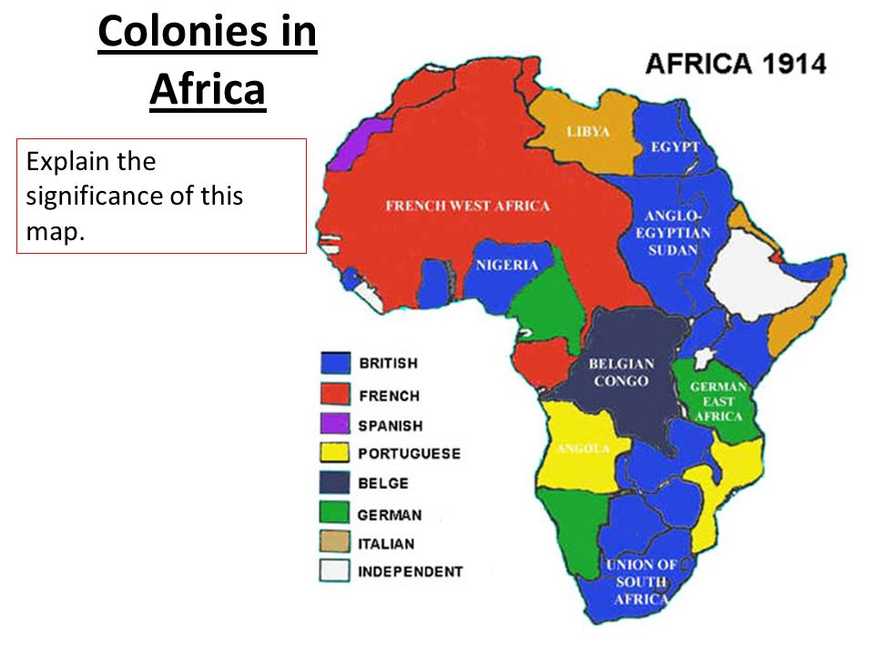 100 Colonies In Africa Module Seven B Example Resume And Cover Letter
