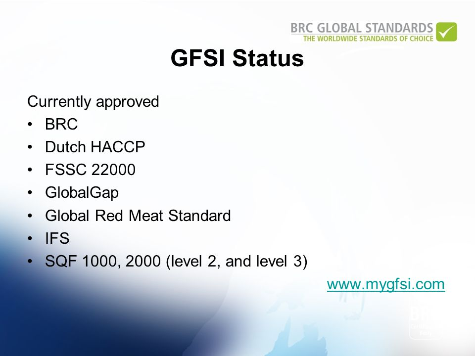 BRC Global Standard for Food Safety March 2010 John Kukoly