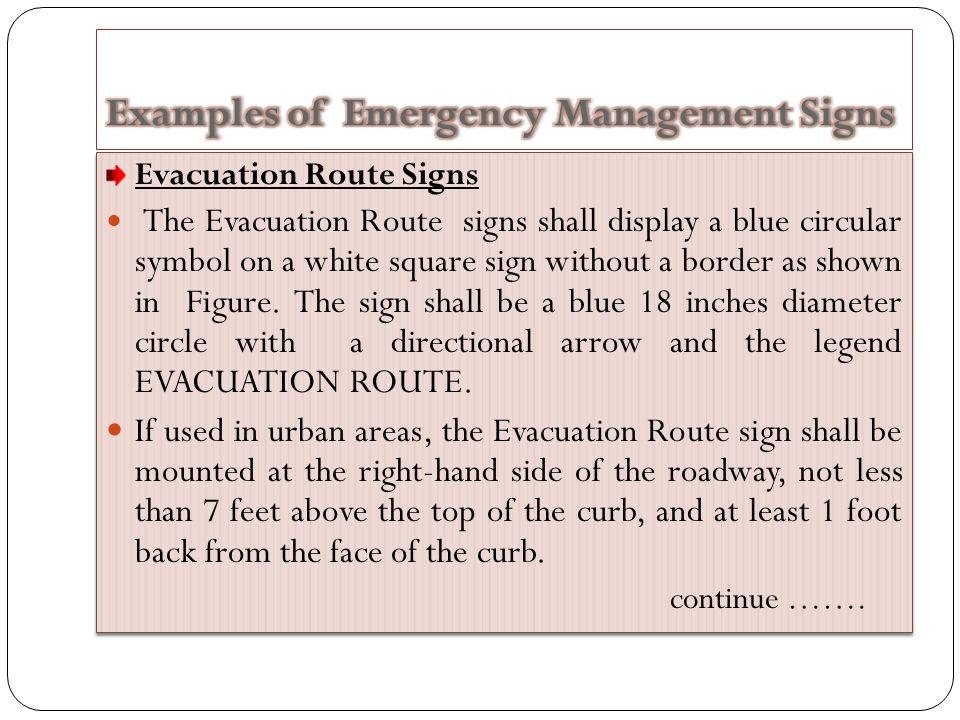 Emergency Management Signs Islamic University Gaza Civil Engineering