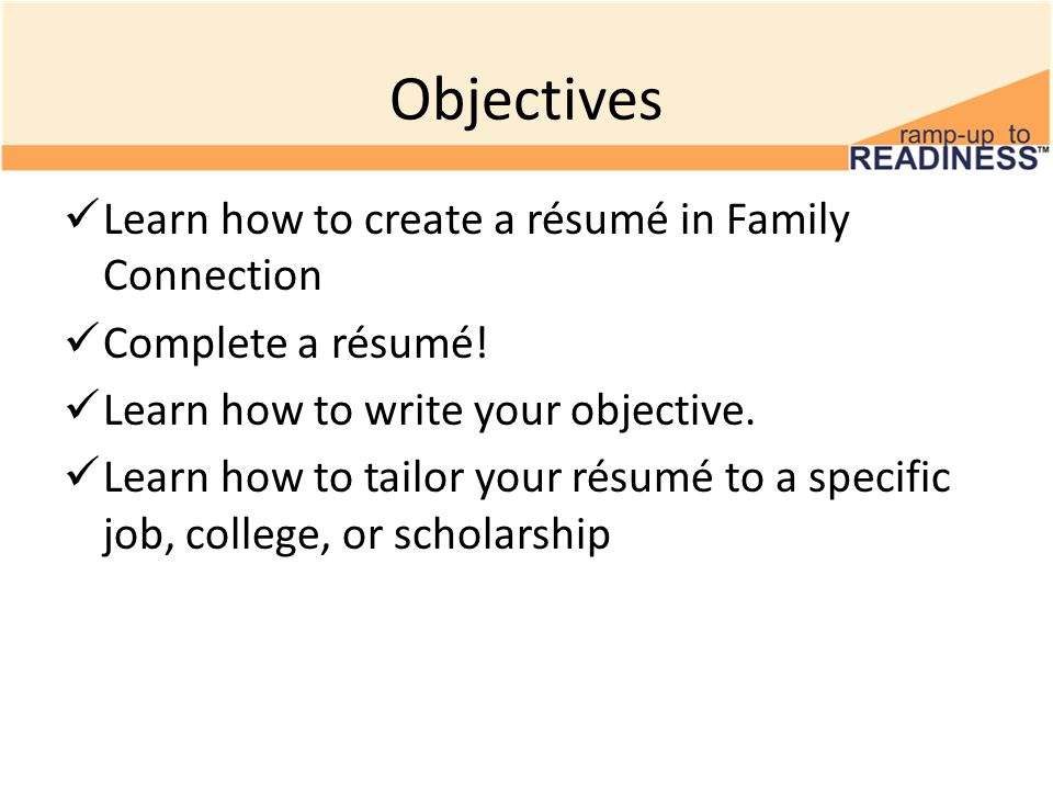 Creating A Rsum In Family Connection 10 Th Grade Resumes Ppt