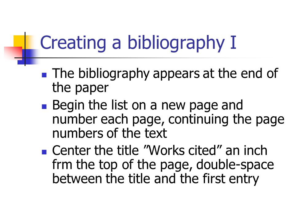 mla bibliographies creating a bibliography i the bibliography