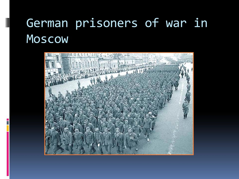 German prisoners of war in Moscow