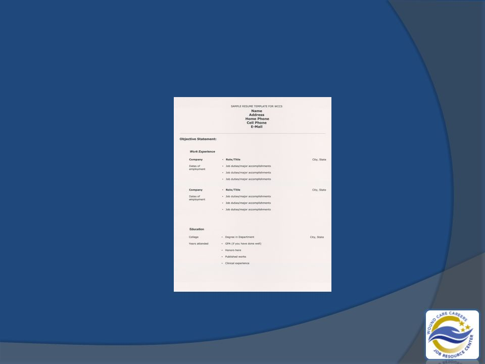 Resume Content Review 1 Complete Contact Information 2 Clearly