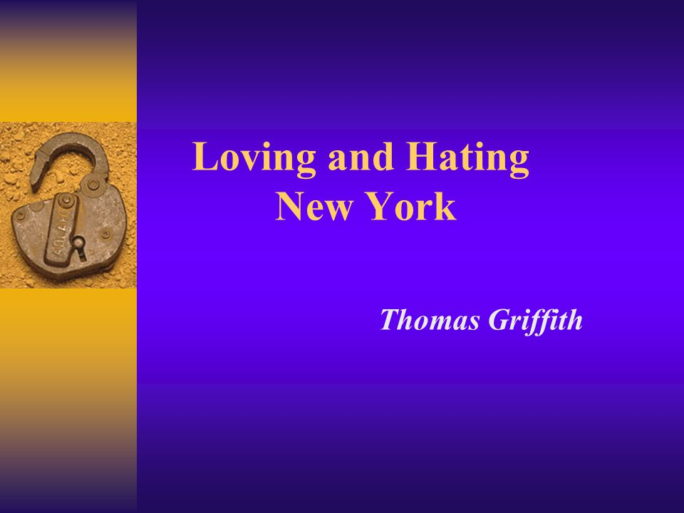 Reading Between Lines In New Yorkers >> Loving And Hating New York Thomas Griffith Aims 1 Improving