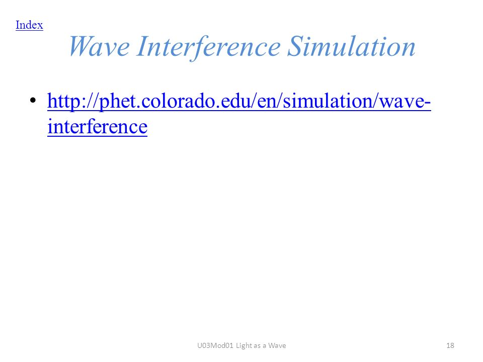 Index Wave Interference Simulation   interference   interference U03Mod01 Light as a Wave18