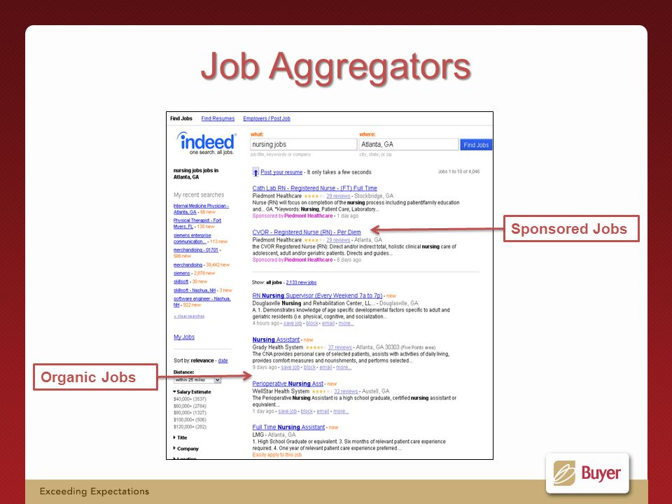 Organic Jobs Sponsored Jobs Job Aggregators