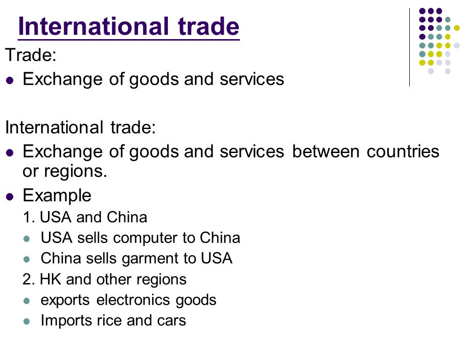 unrestricted international trade essay International trade between china and united states 10 introduction trade refers to the exchange of goods and services from one party to another with the aim of making a gain out of the transaction.