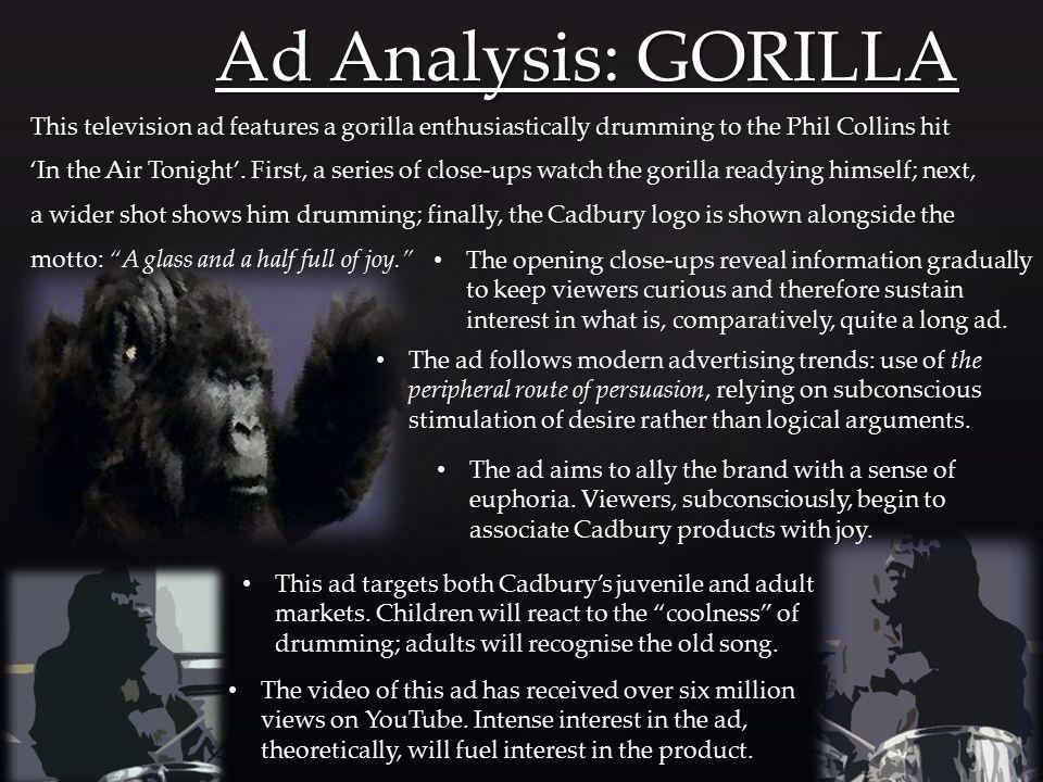 cadbury gorilla advert increase sales