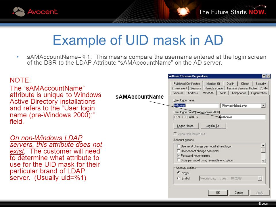 03/07/08 © 2008 DSR and LDAP Authentication Avocent