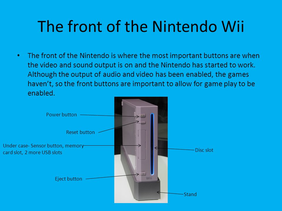 How to enable game play with the Nintendo Wii By Eli De