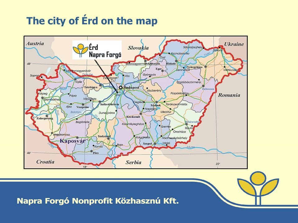 The city of Érd on the map
