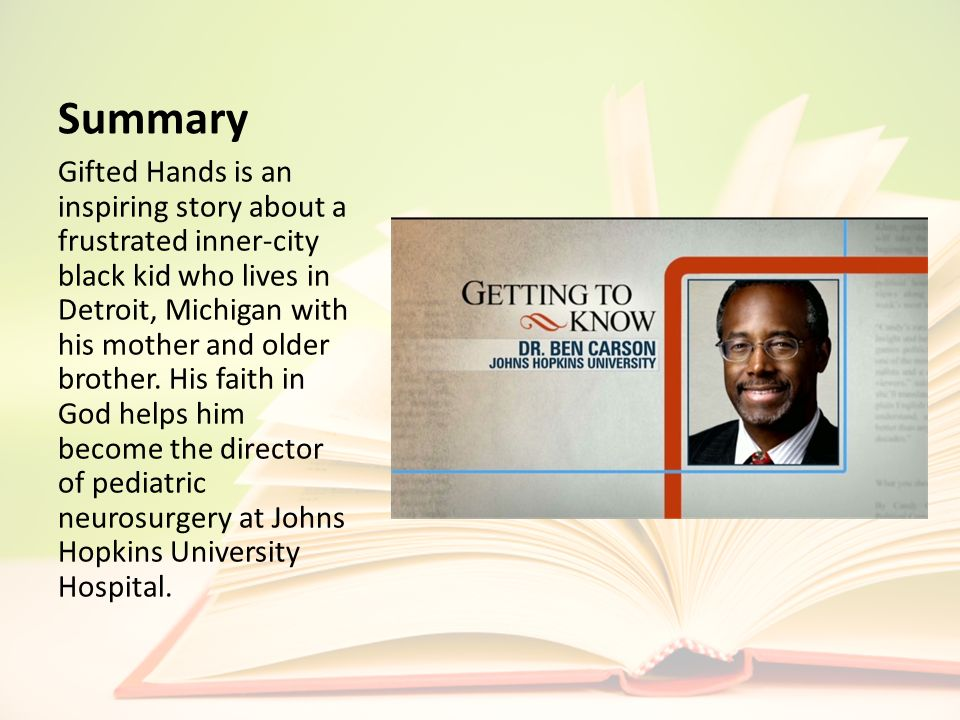 By Dr  Ben Carson Modified by Ms  Hernández, ppt download