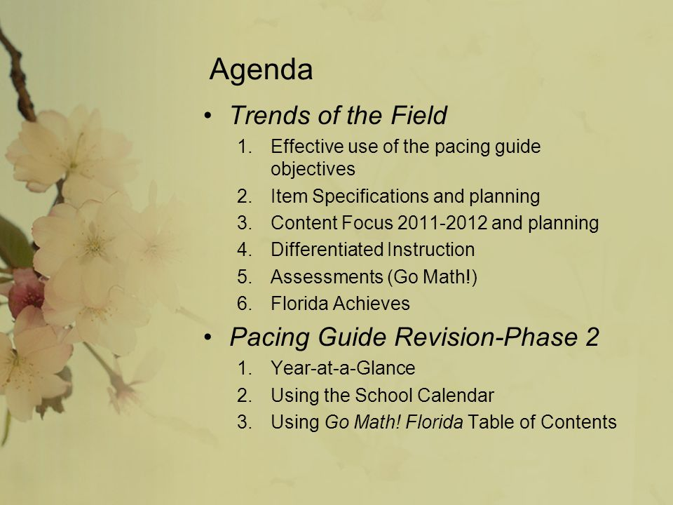 Elementary Math Dialogue 4 January Agenda Trends Of The