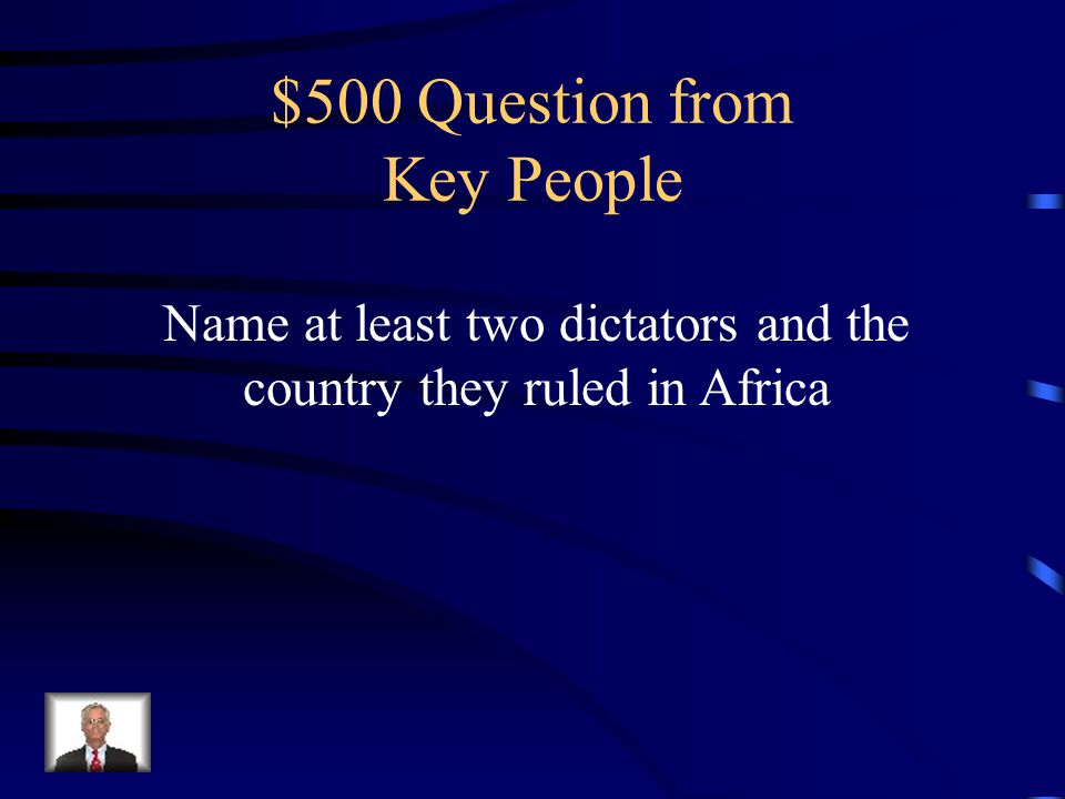 $400 Answer Robert Mugabe
