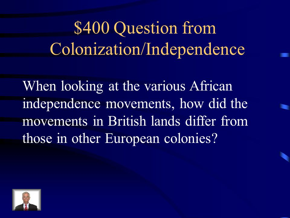 $300 Answer Inspired a wave of nationalism And unity across Africa