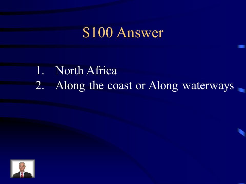 $100 Question from Culture & Current Issues Where does the majority of the population in Africa reside.