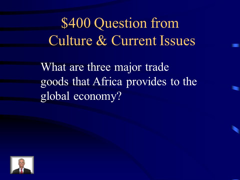 $300 Answer 1.Christianity 2.Islam 3.Traditional African