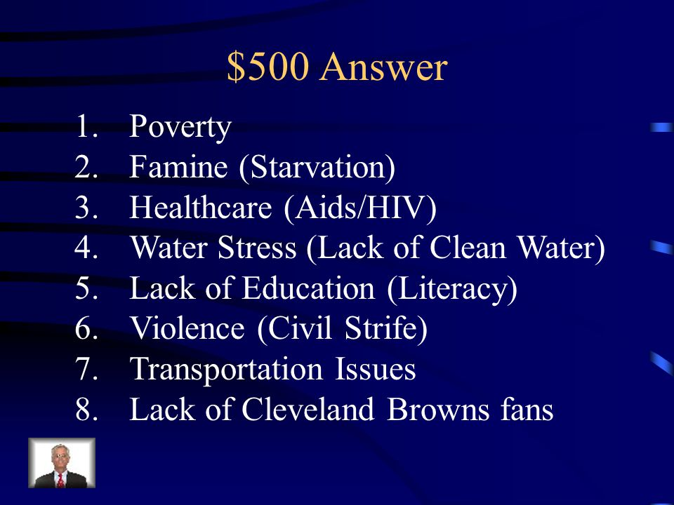 $500 Question from Culture & Current Issues African faces many challenges and issues.