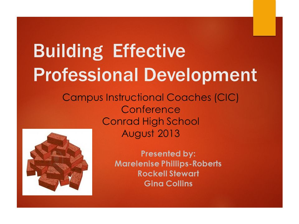 Building Effective Professional Development Campus Instructional
