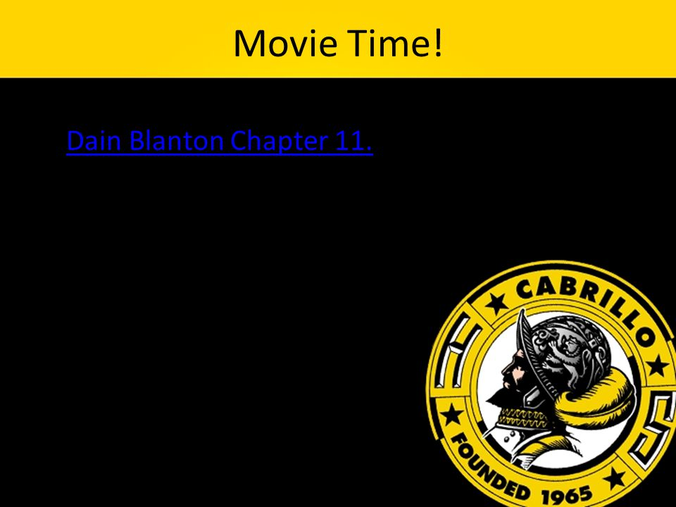 Movie Time! Dain Blanton Chapter 11.