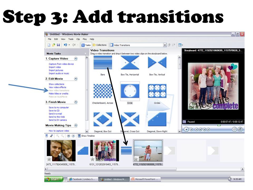 Step 3: Add transitions