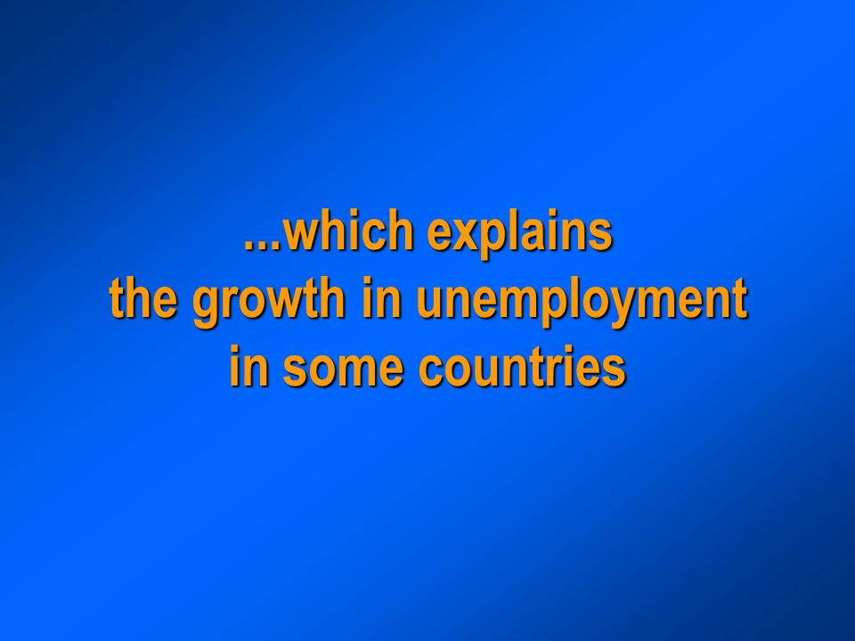 ...which explains the growth in unemployment in some countries