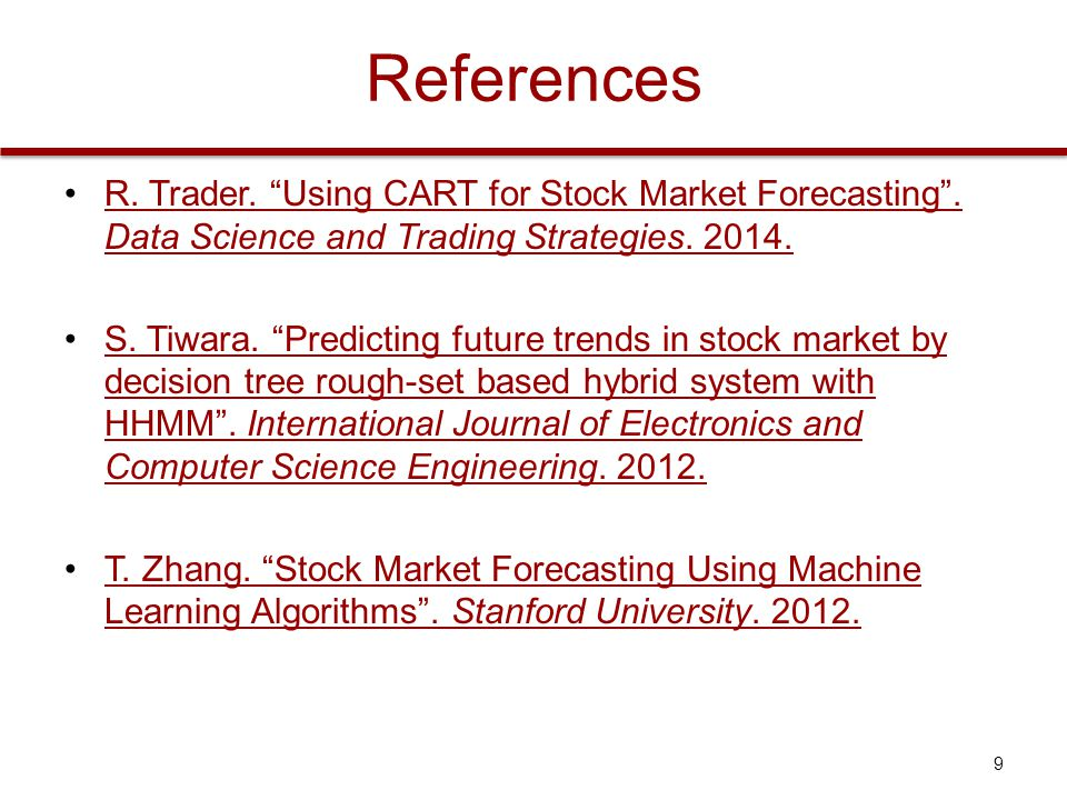 Data Mining BS/MS Project Decision Trees for Stock Market