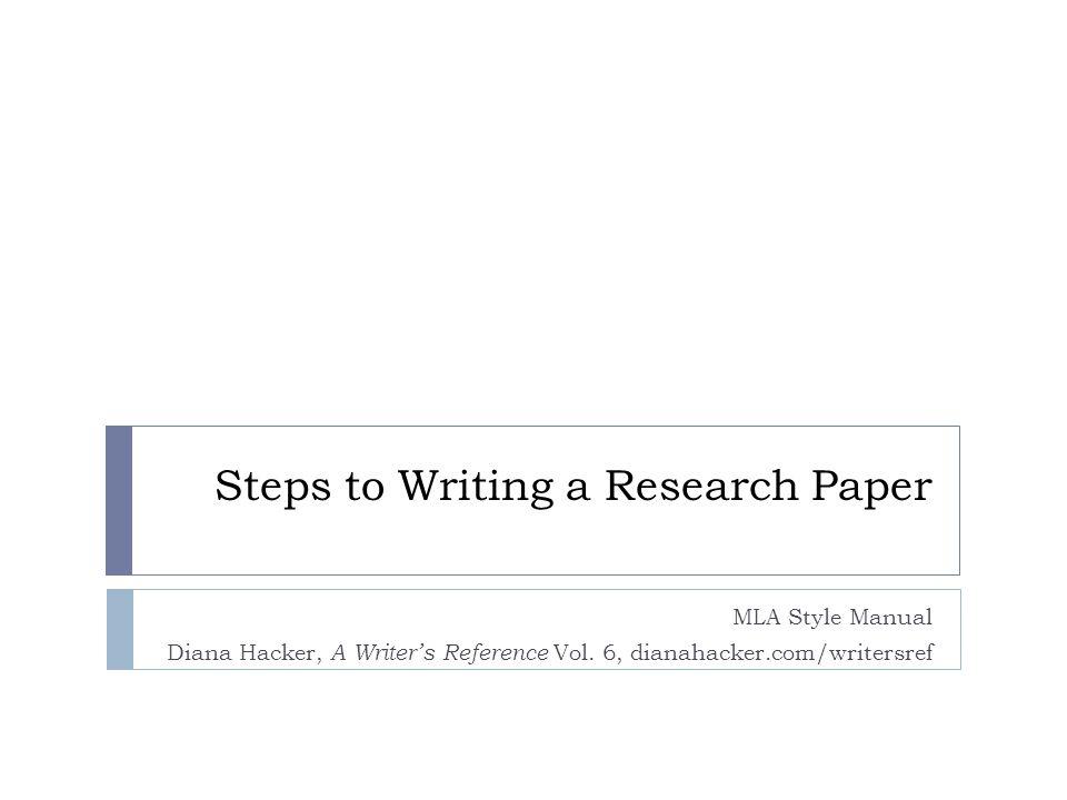 diana hacker mla research paper