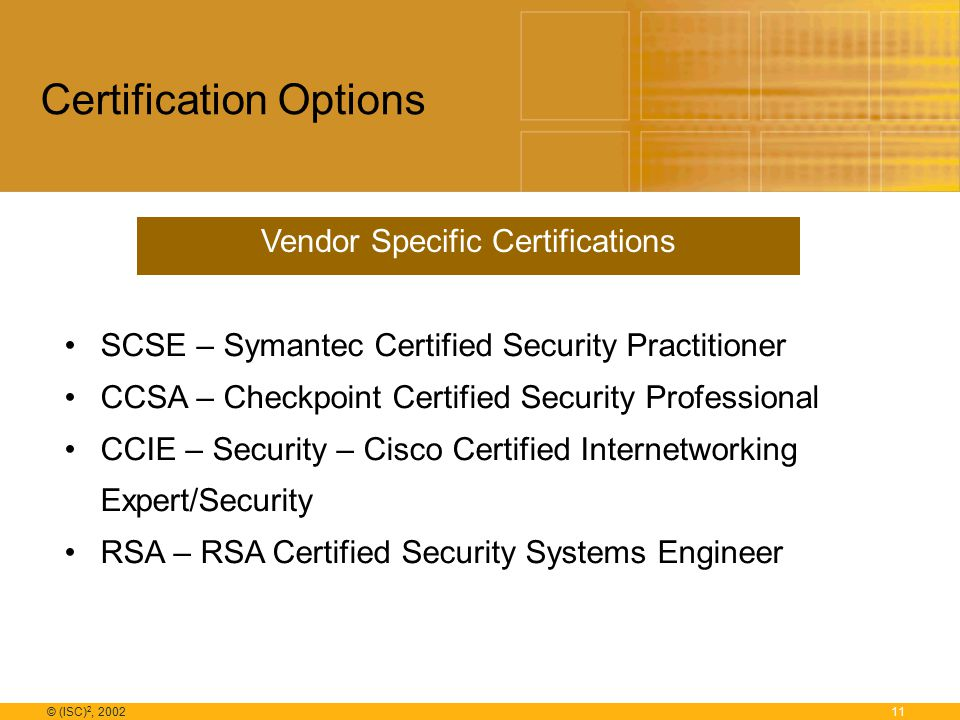1 Isc 2 2002 International Information Systems Security