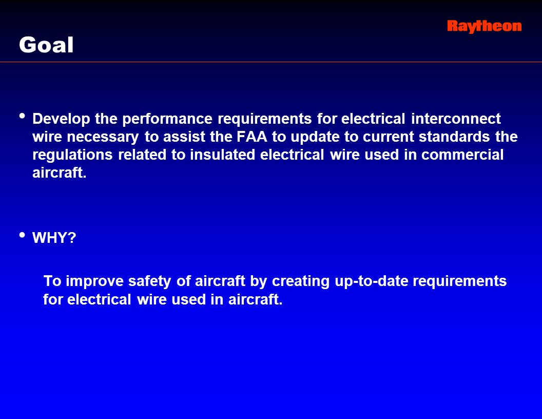 Wire Performance Specification For Aircraft Electrical Systems 6 Wiring Ppt Templates Powerpoint Template Goal Develop The Requirements Interconnect Necessary To Assist Faa Update